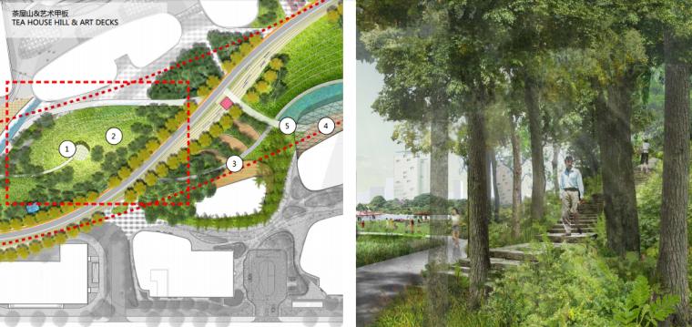 [上海]南站绿轴景观方案设计(现代风格)B-4茶屋山