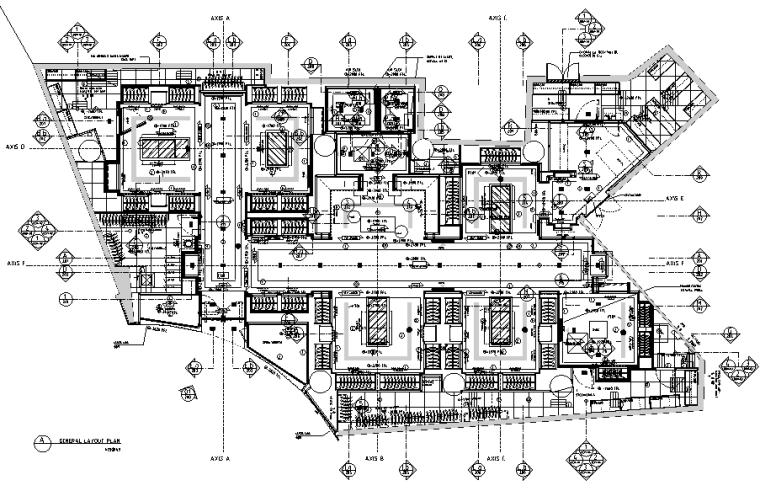 [上海]恒隆广场盟可睐Moncler专卖店设计施工图(附官方摄影图)-平面布局图
