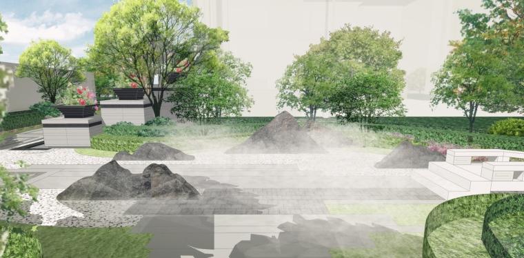 高端中式别墅庭院景观全套图_5