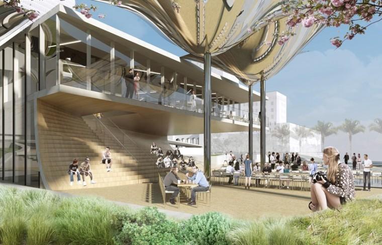 """洛杉矶市中心""""FAB""""新型公园的方案_5"""