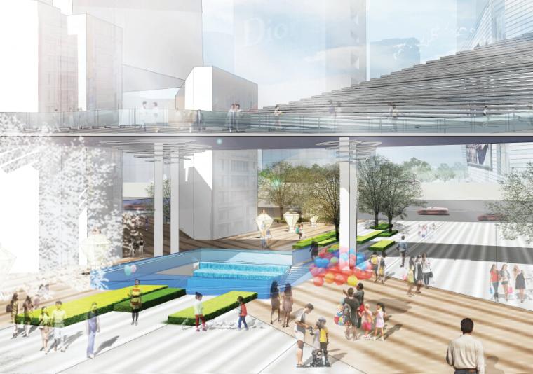 [浙江]休闲开放商业绿地景观概念设计-效果图