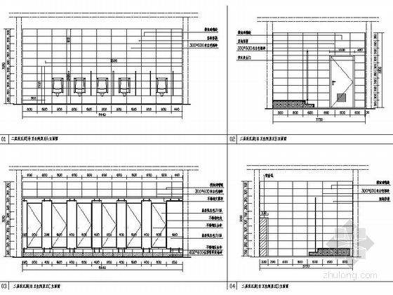 [银川]交通便利配套设施齐全大型家居建材主题购物中心施工图 男卫生间立面图