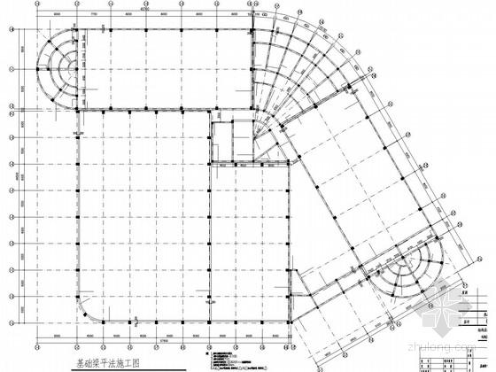 室内训练场底部框架网架屋顶结构施工图