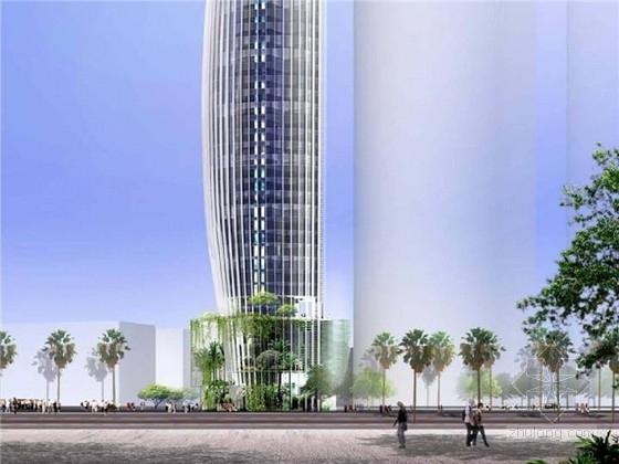 [约旦]现代风格188米酒店建筑设计方案文本(当地地标 英文版)