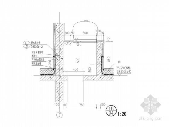 [杭州]30层高层钢筋混凝土结构住宅楼墙体大样图