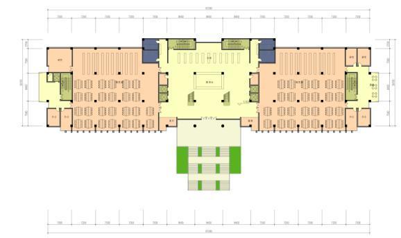 新中式低密度县级中专学校建筑设计方案文本