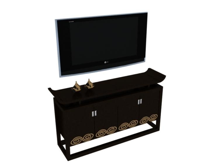 装饰电视柜3D模型下载