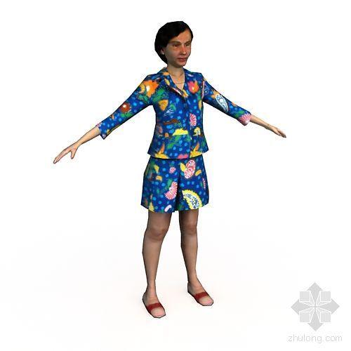低面人物模型