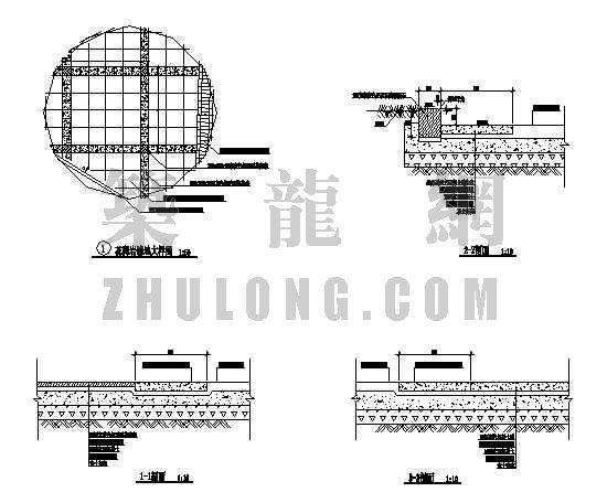 浙江楼盘中心庭院景观施工图-3