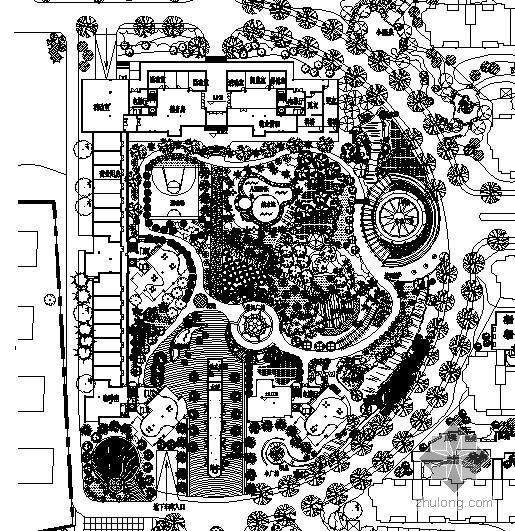 某小区中心花园景观设计方案平面图
