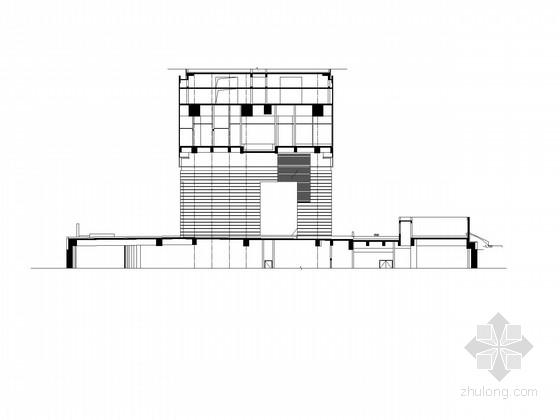 四层现代风格酒店式公寓建筑施工图