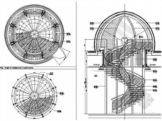 某现代海鲜餐厅楼梯节点详图CAD图块下载