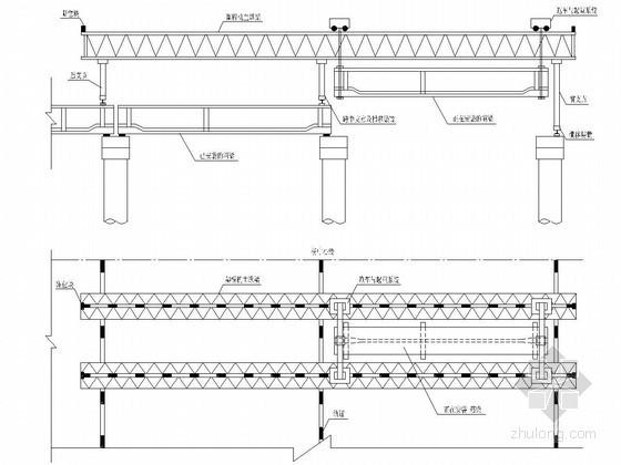 后張法先簡支后連續預應力混凝土箱梁架設施工方案圖片