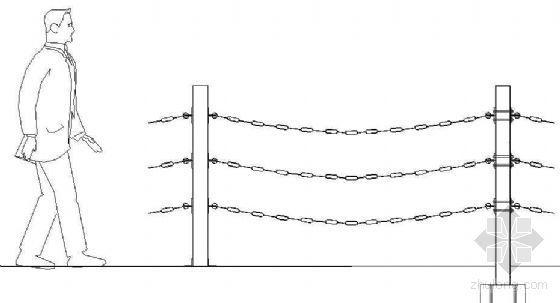 钢链护栏详图