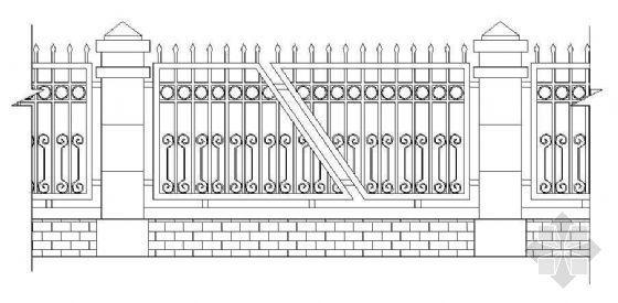 小区别墅围墙施工套图