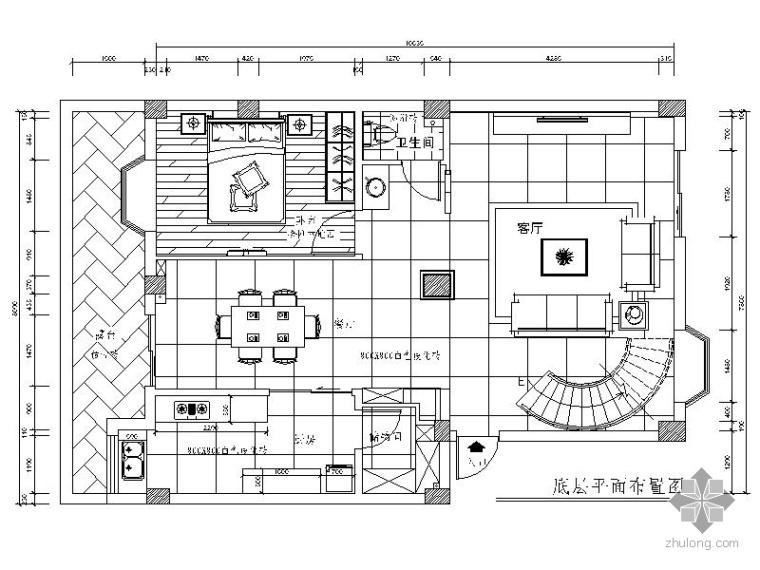 现代家居二层复式装修施工图