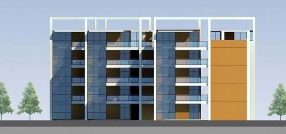 多层福利中心及育婴楼设计方案立面图