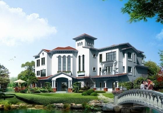 3层别墅建筑安装工程量清单计价实例(含图纸 带私人泳池)