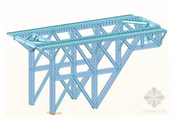 [湖南]大跨径钢桁梁悬索桥主索鞍门架设计计算书33页(知名集团)