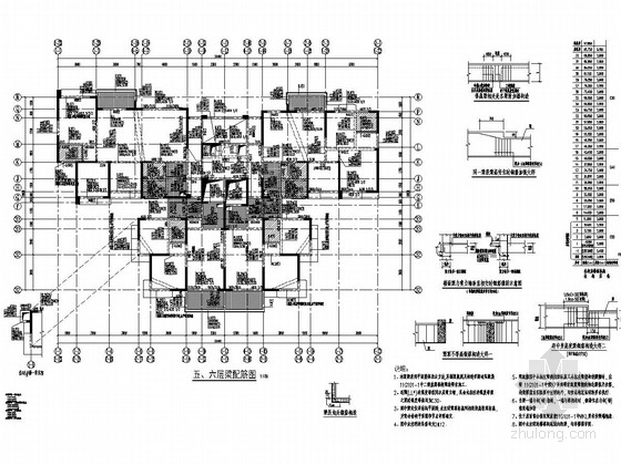 [四川]32层全现浇钢筋混凝土剪力墙结构住宅楼结构施工图