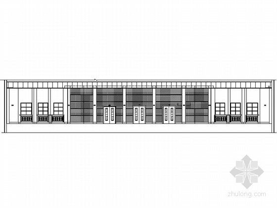 某学校单层多功能报告厅建筑方案图