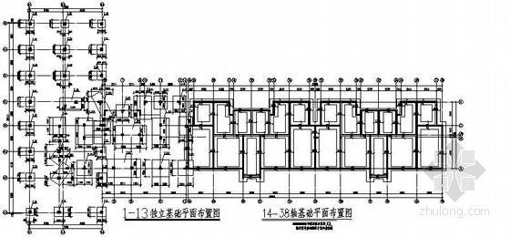 六层框架异形柱砖混住宅楼结构施工图