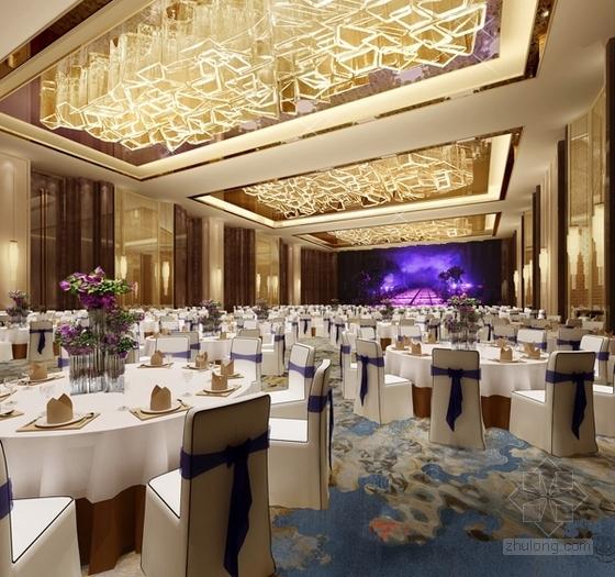 [福建]豪华五星级现代酒店室内设计成果汇报方案宴会厅效果图
