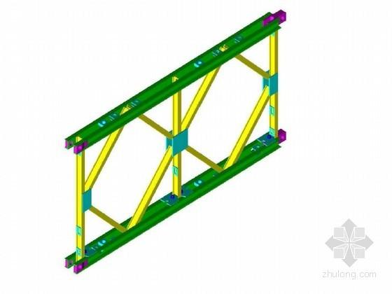 贝雷梁桁架结构尺寸详图10张