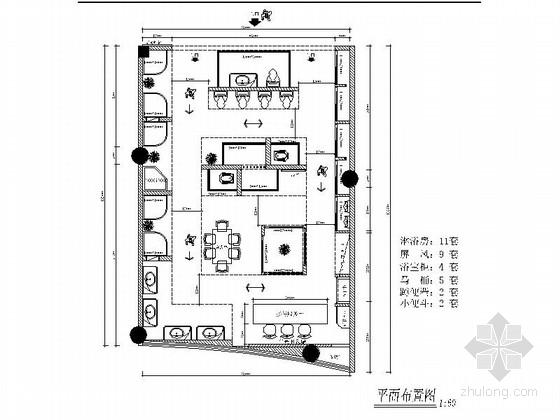 [赣州]时尚卫浴终端展厅施工图(含效果图)