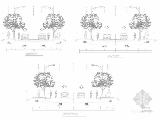 2车道市政道路施工图151张(含排水弱电 浙江)