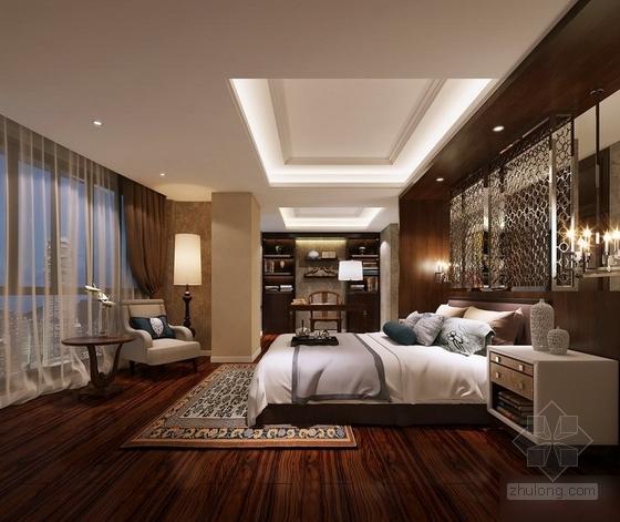 [福州]现代风格130平三居室装修图(含效果)卧室效果图