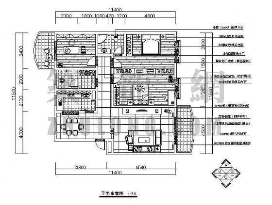 三室户型图