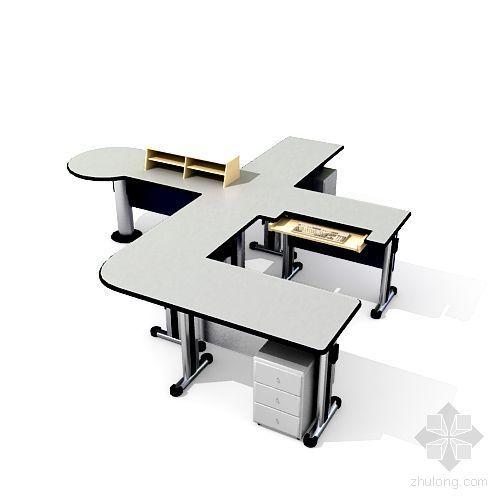vr建筑渲染教程资料下载-办公桌