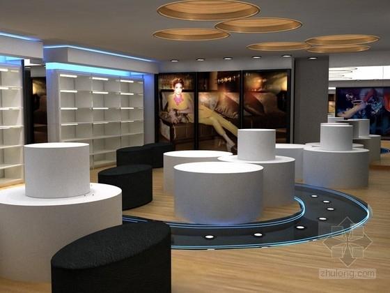 时尚女鞋店铺室内设计方案(效果图 现代简约)