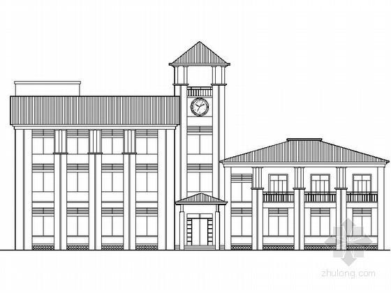 某三层简欧式会所建筑方案图