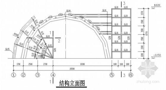 [贵州]电厂钢结构大门结构施工图