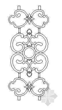 铁艺栏杆详图23