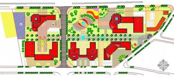 辽宁某新区城市文化广场景观规划平面图