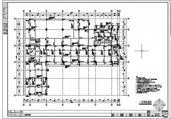 [中山]某带车库六级人防综合楼结构设计图