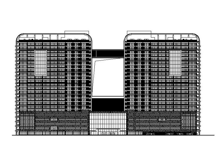 [安徽]高层双子塔式省级2000床综合性医院建筑施工图