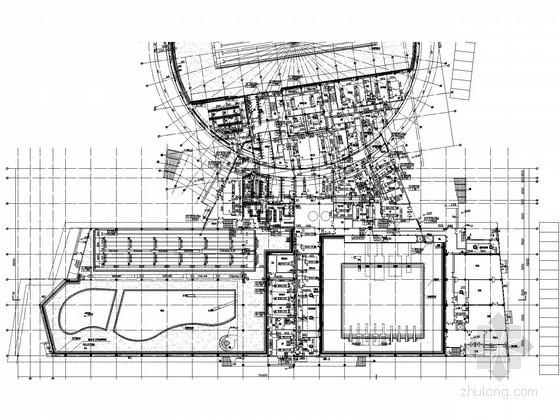 [江苏]大型体育中心空调通风及防排烟系统设计施工图(含采暖设计)