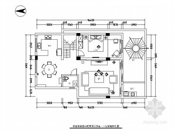 [原创]恢弘大气中式风格两层别墅室内装修施工图(含效果图)