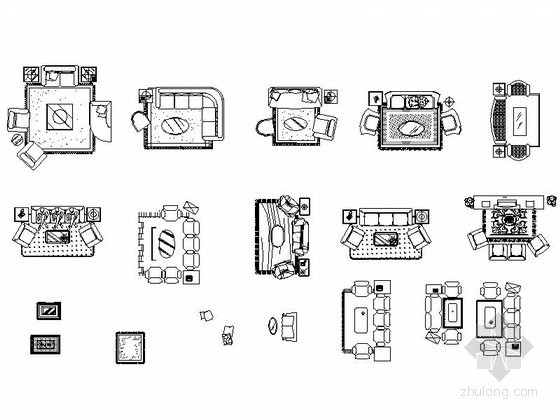 全套家居平面CAD图块下载