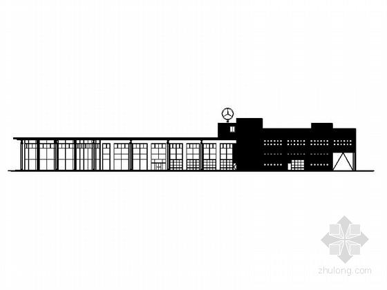 [河南]两层奔驰汽车4S店建筑施工图(甲级设计院)