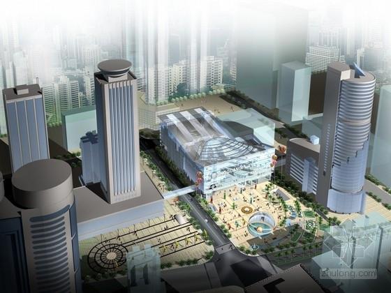 [广东]玻璃幕墙8层多层商业综合体建筑方案文本