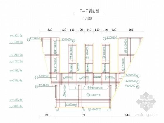 [贵州]泥石流应急治理工程梳齿坝结构设计图