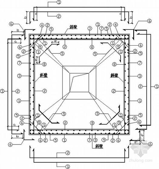 方形料仓框架建筑结构施工图