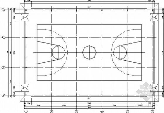 [陕西]室内篮球场结构施工图