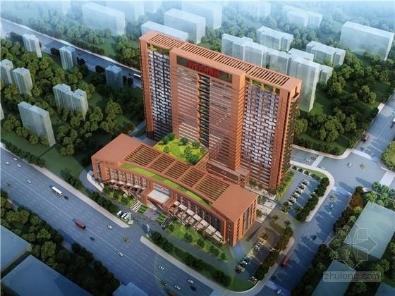 [广西]红砖立面高层儿童医院建筑设计方案文本