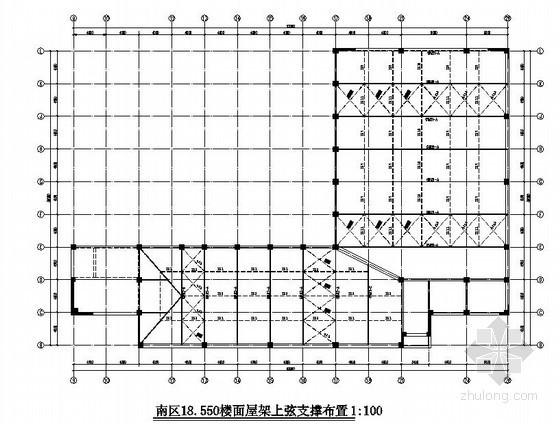 [江苏]会所三角型钢屋架结构施工图